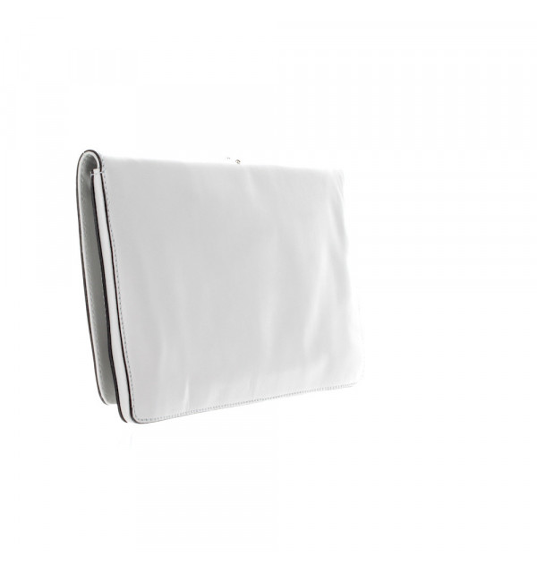 Abro Leather Mustang Rock Clutch white 28cm