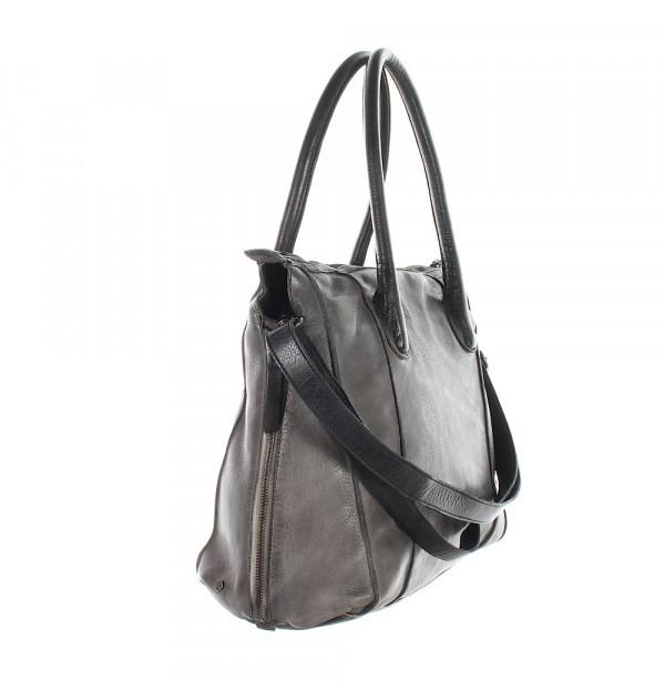 Another Bag La Sereine Vintage Handtasche grau 35cm