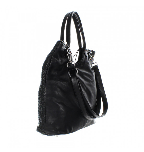 Another Bag What Else Plaited Shopper schwarz 43cm