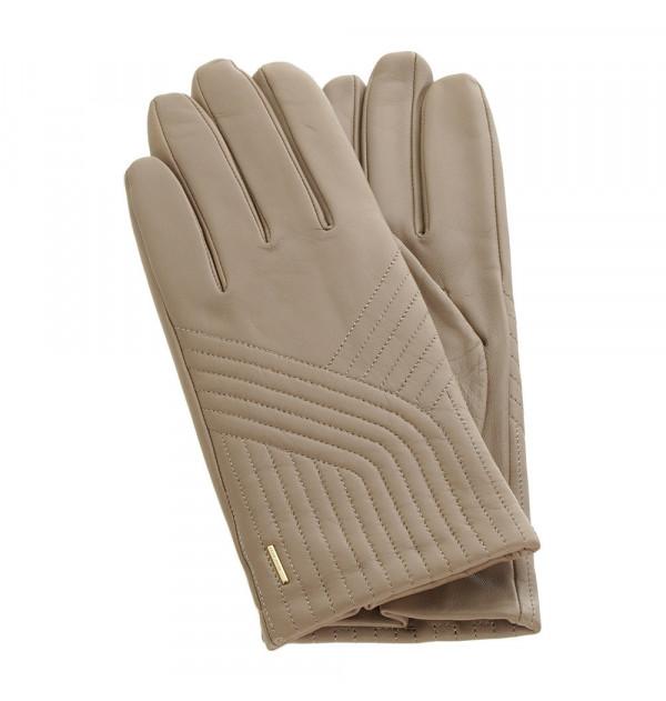 Boss Gyna Damen Handschuhe beige Grösse 8