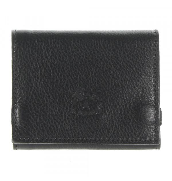 Il Bisonte Geldbörse schwarz 9cm