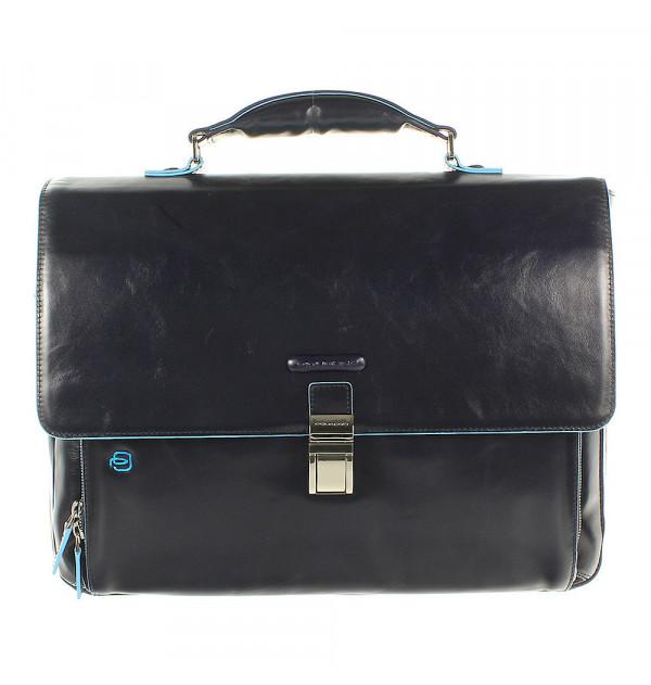 Piquadro Blue Square erweiterbare Laptoptasche blau 40cm
