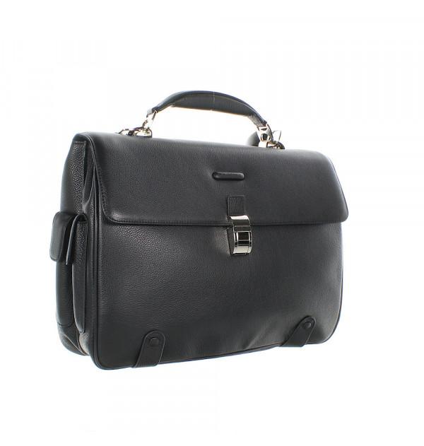 Piquadro Modus Laptoptasche schwarz 44cm